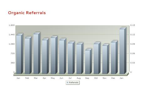 Annual Increase in Search Referrals
